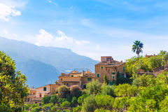Fornalutx village in Majorca Balearic island Stock Photos