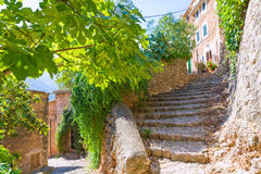 Fornalutx village in Majorca Balearic island Stock Images