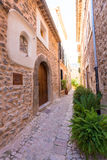 Fornalutx village in Majorca Balearic island Stock Photo