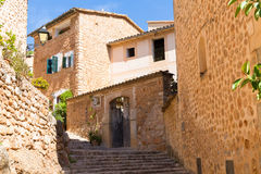 Fornalutx village in Majorca Balearic island Stock Photography