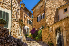 Fornalutx village streets Royalty Free Stock Photos