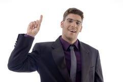 Fornecedor de serviço considerável que aponta para cima Foto de Stock