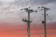 Fornecimento de electricidade Fotografia de Stock