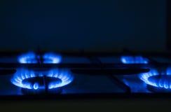 Fornello di gas fotografia stock