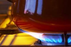 Fornello di gas Fotografie Stock Libere da Diritti