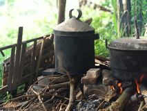 Fornello di riso antico fotografie stock libere da diritti
