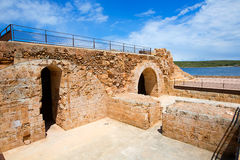 Fornells Castle fortress in Menorca at Balearic islands Stock Photography