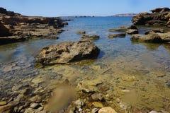 Fornells - Menorca -巴利阿海岛-西班牙 免版税库存图片