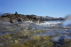 Fornells, Menorca, Baleares wyspy - Hiszpania - fotografia stock