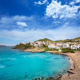 Fornells in Menorca Cala Tirant beach at Balearic Islands Stock Photography