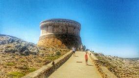 Fornells slott Menorca Fotografering för Bildbyråer