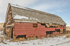 Forner społeczność Hall w Wiejskim Montana Fotografia Royalty Free