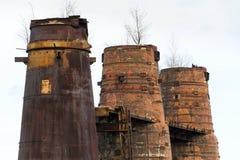 Forni a calce in Kladno, repubblica Ceca, monumento culturale nazionale Fotografie Stock