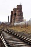 Forni a calce in Kladno, repubblica Ceca, monumento culturale nazionale Fotografia Stock
