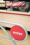 Fornisca il segno per il fast food negli Stati Uniti Immagine Stock Libera da Diritti