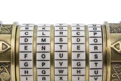Fornisca l'impostazione come parola d'accesso al puzzle b di combinazione Fotografia Stock Libera da Diritti