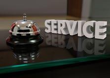 Fornisca un servizio al cliente Front Desk di assistenza della cortesia di Bell Fotografia Stock Libera da Diritti