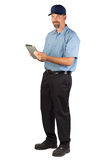 Fornisca un servizio al tecnico Taking Order fotografie stock libere da diritti