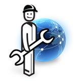 Fornisca un servizio all'impiegato Immagini Stock Libere da Diritti
