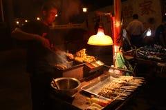 Fornitore di alimento della via in Cina Fotografie Stock Libere da Diritti