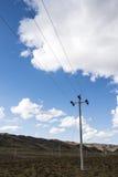 Fornitura di energia sulla prateria Immagine Stock Libera da Diritti