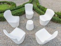 Forniture extérieur blanc moderne Photo stock