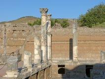 Fornlämningen av en romersk stad av Lazio - Italien 01 Arkivbild