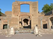 Fornlämningen av en romersk stad av Lazio - Italien 010 Fotografering för Bildbyråer