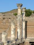 Fornlämningen av en romersk stad av Lazio - Italien 011 Arkivfoto