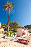 Forno beach, on the Biodola Bay, Elba island. Stock Photos
