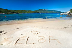 Forno beach, Elba island. Royalty Free Stock Images
