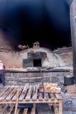 Forno coloniale dell'argilla immagine stock