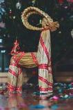 Forno da palha do Natal imagem de stock