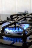 Forno de gás ardente Fotografia de Stock