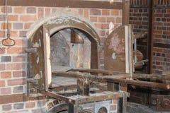 Forno del crematorio del campo di concentramento di Dachau immagini stock libere da diritti