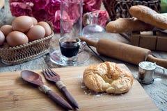 Forno del croissant Fotografie Stock