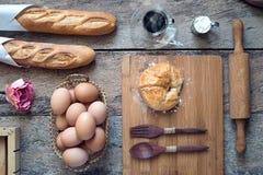 Forno del croissant Immagine Stock