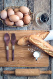 Forno del croissant Fotografie Stock Libere da Diritti