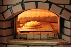 Forno della pizza Fotografia Stock Libera da Diritti