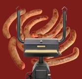 Forno di cottura multifunzionale, salsicce di Francoforte arrostite Fotografia Stock