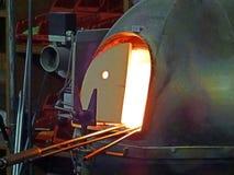 Forno di fusione di vetro Fotografie Stock
