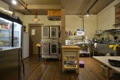 Forno e cucina industriali della caffetteria immagini stock libere da diritti