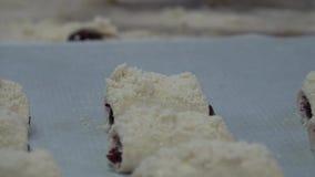 Forno e panino dolce video d archivio