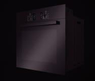 Forno elettrico nero moderno rappresentazione 3d Fotografie Stock Libere da Diritti