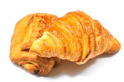 Forno francese del croissant Fotografie Stock