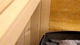 Forno nella sauna stock footage