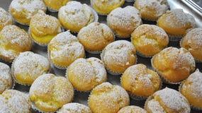 Forno siciliano Pasticcerie tradizionali, choux della crema Fotografia Stock