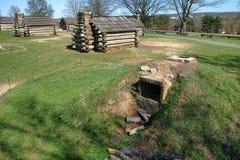Forno storico dell'accampamento del parco della forgia della valle Fotografia Stock Libera da Diritti