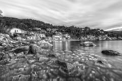 Forno-Strand, Elba Island, Italien stockbild