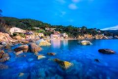 Forno-Strand, Elba Island, Italien stockfotos